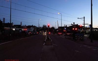 Spoorwegovergang 2013, laatste nacht autoverkeer