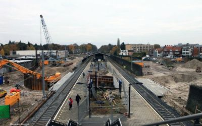 Bouw autotunnel-station 2010-2013
