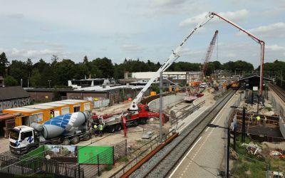Tunnelbouw beton storten juni 2013