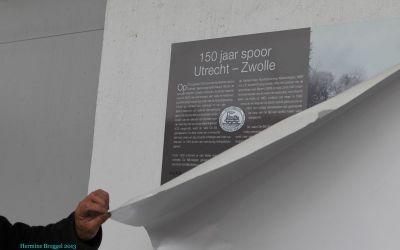 Onthulling plaquette 150 jaar Station Bilthoven