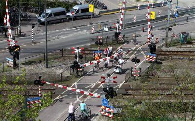 Spoorwegovergang Bilthoven in 2012